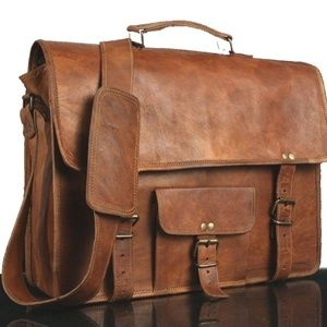 Other - Classic Leather Laptop Bag